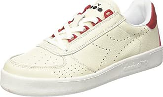 Diadora B.Elite L, Chaussures de Gymnastique Homme, Blanc Cassé (Bianco Ottico Blu Estate), 43 EU