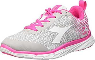 Diadora Nj-303-2 W - Zapatillas de Running de Material Sintético para Mujer Varios Colores Multicolore (C3772 Bianco/Rosa Fluo) 38 1/2