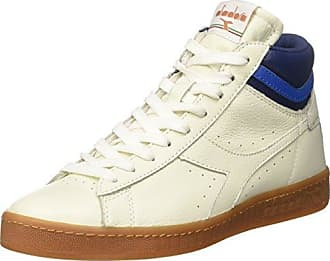 Diadora Game L Low Waxed, Sneakers Basses Mixte Adulte - Blanc Cassé - Bianco (Bianco/Blu Mar Caspio/Bianco), 43