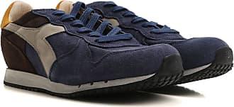 Sneaker Homme Pas cher en Soldes, Bleu Nuancé, Daim, 2017, 40 40.5 41 42 42.5 43 44 45Diadora