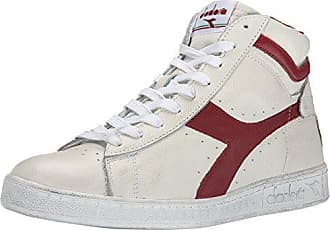 Diadora Game L Low Waxed, Chaussures de Gymnastique Mixte Adulte, (Bianco/Rosso Peperone C5147), 41 EU