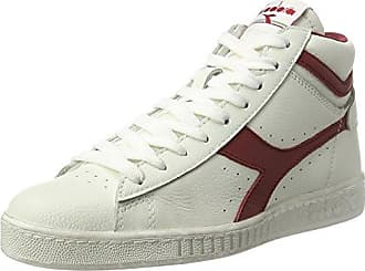 Diadora Game L High Waxed, Sneaker a Collo Alto Unisex - Adulto, Bianco (Bianco/Fogliame), 42 EU