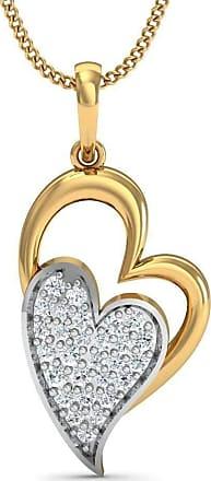 Diamoire Jewels Hankering 18kt Yellow Gold Heart Diamond Pave Pendant