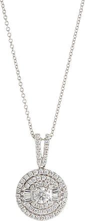 Diana M. Jewels 14k Diamond Circle Pendant Necklace, 1.0tcw