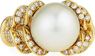 Diana M. Jewels 18k Diamond & Pearl Ring, 2.0tcw, Size 6