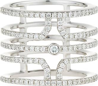 Diana M. Jewels 18k Split Diamond Pavé Ring, Size 6