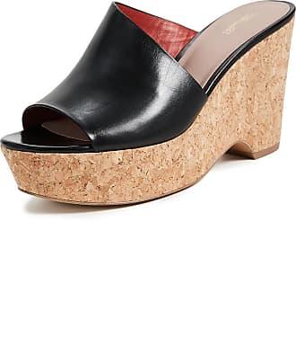Diane Von Furstenberg Woman Leather-trimmed Shearling Slides Black Size 7 Diane Von Fürstenberg