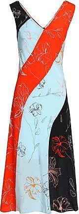 Diane Von Furstenberg Woman Leather-trimmed Shearling Slides Red Size 6 Diane Von Fürstenberg