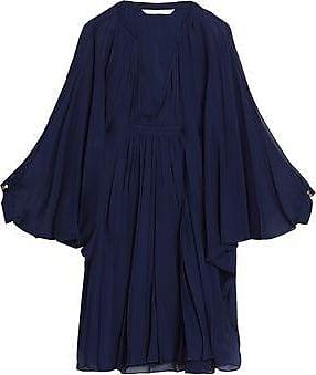 Diane Von Furstenberg Woman Gathered Silk-voile Mini Dress Black Size 2 Diane Von Fürstenberg