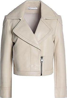 Diane Von Furstenberg Woman Pintucked Fil Coupé Chiffon Jacket Navy Size 6 Diane Von Fürstenberg