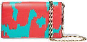 Diane Von Furstenberg Woman Soiree Leather Shoulder Bag Tomato Red Size Diane Von Fürstenberg