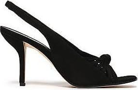 Diane Von Furstenberg Woman Farah Suede Slingback Sandals Black Size 5 Diane Von Fürstenberg