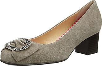 Diavolezza 6052 - Zapatos de Tacón con Punta Cerrada de Cuero Mujer, Color Beige, Talla 39.5 EU