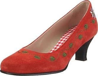 Diavolezza LEA 6052 - Zapatos de tacón de cuero para mujer, color rojo, talla 43