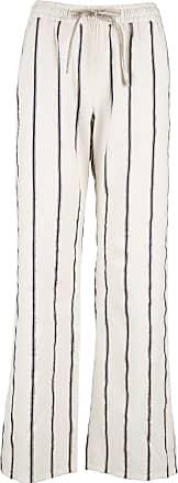 Streifenhose aus Baumwolle, Leinen und Seide im Pyjama-Stil DIEGA