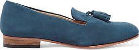 Dieppa Restrepo Woman Gaston Tasseled Suede Loafers Storm Blue Size 8.5 Dieppa Restrepo