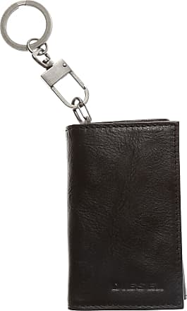 Diesel Key Chain for Men, Key Ring On Sale in Outlet, Noose, Black, Cow Leather, 2017, one size