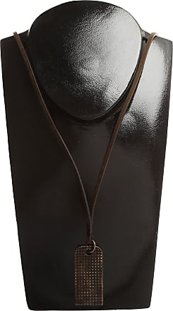 Diesel Necklaces On Sale in Outlet, Grater, Brown, Cow Leather, 2017, One Size