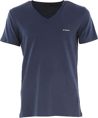 Camiseta de Hombre Baratos en Rebajas, Tash, Azul, Algodon, 2017, L S XS Diesel