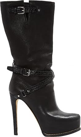 Pre-owned - Leather buckled boots Dior