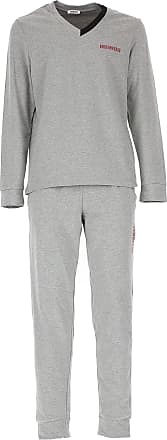 Loungewear for Men On Sale, Melange Grey, Cotton, 2017, XL (EU 6) Dirk Bikkembergs