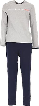 Loungewear for Men On Sale, Grey Melange, Cotton, 2017, S (EU 3) L (EU 5) XL (EU 6) Dirk Bikkembergs