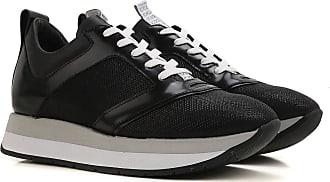 Sneaker für Damen, Tennisschuh, Turnschuh Günstig im Sale, Schwarz, Leder, 2017, 36 37 38 39 40 Dirk Bikkembergs