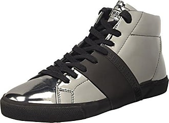 Damen Rubb-Er 752 Mid Shoe M Lame High-Top, Grau (Matte Gun/Black), 37 EU Dirk Bikkembergs