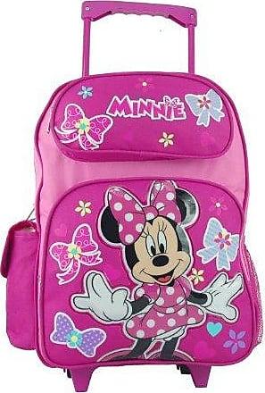 großem Rolling Rucksack Minnie Maus rot Herzen 40,6 cm Schulranzen 635527 Disney