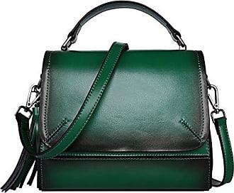 EQ0906 Damen Braun Leder Handtaschen Satchel Tote Taschen Schultertaschen,20X11X18CM(LxBxH) Dissa