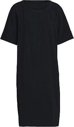 Dkny Woman Twill Shirt Dress Black Size L DKNY