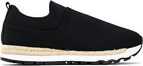 Dkny Woman Textured Satin Espadrille Sneakers Black Size 8.5 DKNY