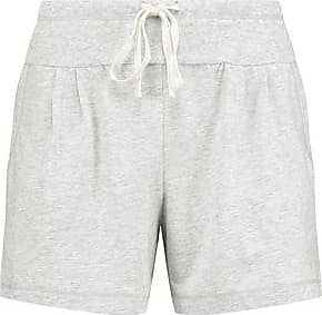 Dkny Woman Stretch-pima Cotton Pajama Shorts White Size L DKNY