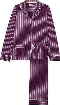 Dkny Woman Printed Fleece And Stretch Modal-jersey Pajama Set Violet Size XL DKNY