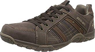 Dockers 33NN016 - Zapato Brogue de Material sintético Hombre, Color Marrón, Talla 43