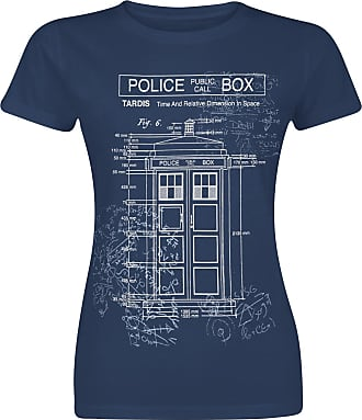Doctor Who Bad Wolf Camiseta Mujer Azul jaspe
