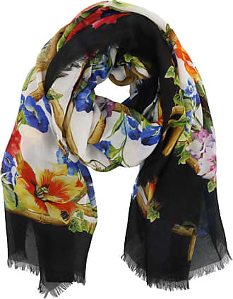 floral and tiger print scarf - Multicolour Dolce & Gabbana