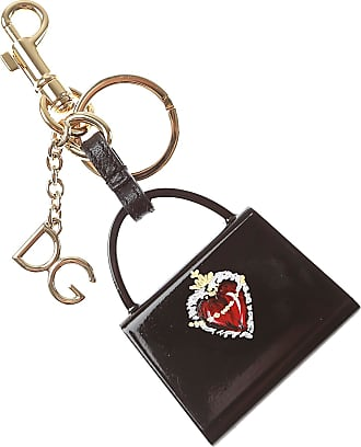 Prada Key Chain for Men, Key Ring On Sale, Black, Leather, 2017, one size