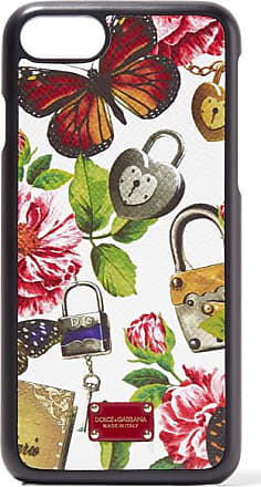 Bedruckte Iphone 7-hülle Aus Strukturiertem Leder - Leoparden-Print Dolce & Gabbana