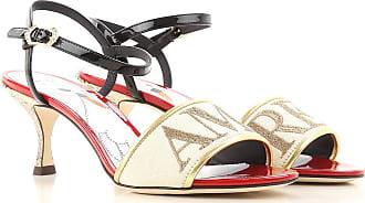 Dolce & Gabbana Sandali Donna In Saldo, Rubino, pelle, 2017, 35 35.5 36 36.5