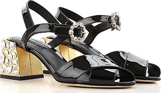 Sandalias de Mujer Baratos en Rebajas, Oro Viejo, Piel, 2017, 35 36 37 38 41 Dolce & Gabbana
