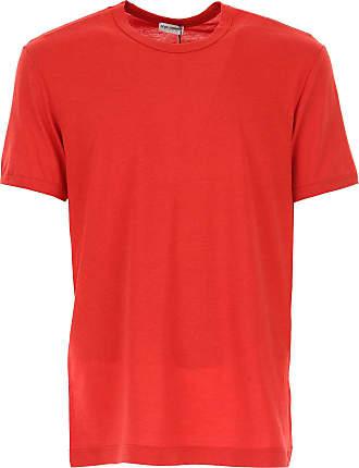 Camiseta de Hombre Baratos en Rebajas, Rojo, Algodon, 2017, L M XL Dolce & Gabbana