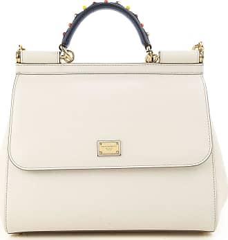 Dolce & Gabbana Top Handle Handbag On Sale, White, Leather, 2017, one size
