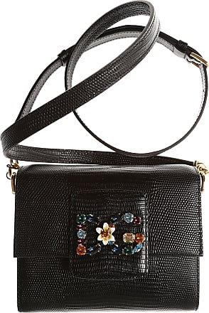 Dolce & Gabbana Shoulder Bag for Women On Sale, Black, Leather, 2017, one size