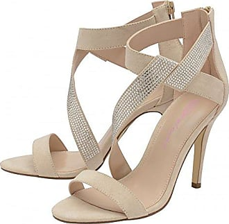 Damen Dolcis Bunt Sommer Platform Wedge - Metallic Trim - Nude Koralle Flieder UK4 - EU37 - US6 - AU5