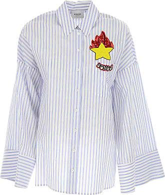 Shirt for Women On Sale, Denim Blue, Cotton, 2017, 24 26 28 Dondup