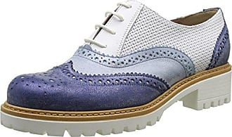 Donna PIU Carol, Zapatos de Cordones Derby para Mujer, Gris (Sun Piombo 1900), 41 EU Donna Più