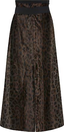 Leopard Deluxe High-Rise Cotton-Blend Midi Skirt Dorothee Schumacher