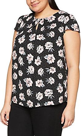 Dorothy Perkins Curve Butterfly Notch, Blusa para Mujer, Negro (Black 130), 46