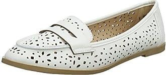 Dorothy Perkins Lana, Mocasines para Mujer, Blanco (White 190), 36 EU